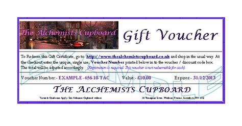 gift voucher terms conditions