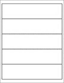 1 x 2 label template 8 x 2 inch labels 5 labels per sheet ol1159 8 quot x 2 quot