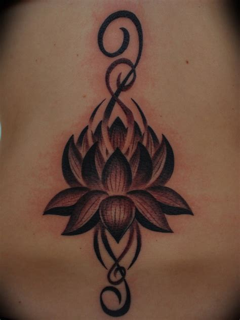 tribal lotus tattoo designs lotus flower picture at checkoutmyink