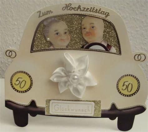 Fã R Auto Hochzeit by 3d Auto Karte Zur Goldenen Hochzeit Glitzer Oma Opa