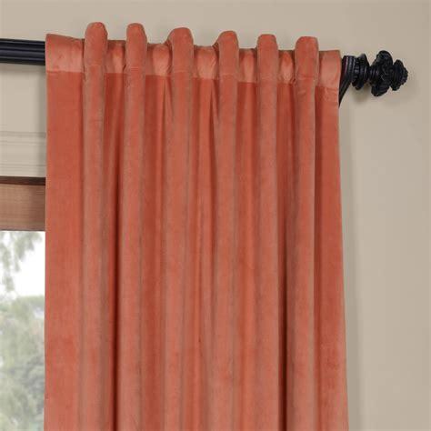 velvet curtains blackout luxury signature desert coral blackout velvet curtain