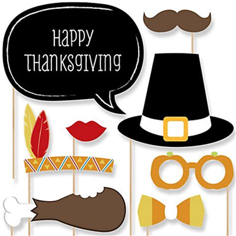thanksgiving photo booth props give thanks thanksgiving 20 photo booth props kit bigdotofhappiness