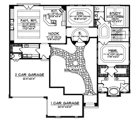 santa fe house plans cervantes santa fe style home plan 051d 0350 house plans