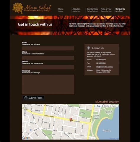 Fab Site Daszigncom website design for mumsabai day spa gt fab web design