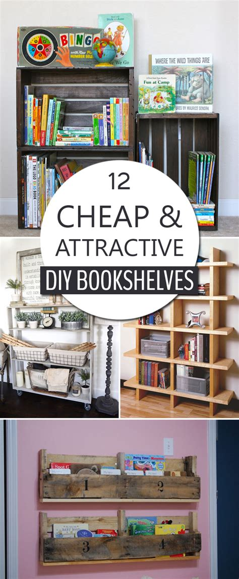 cheap bookshelves diy 12 cheap and attractive diy bookshelves you can build yourself