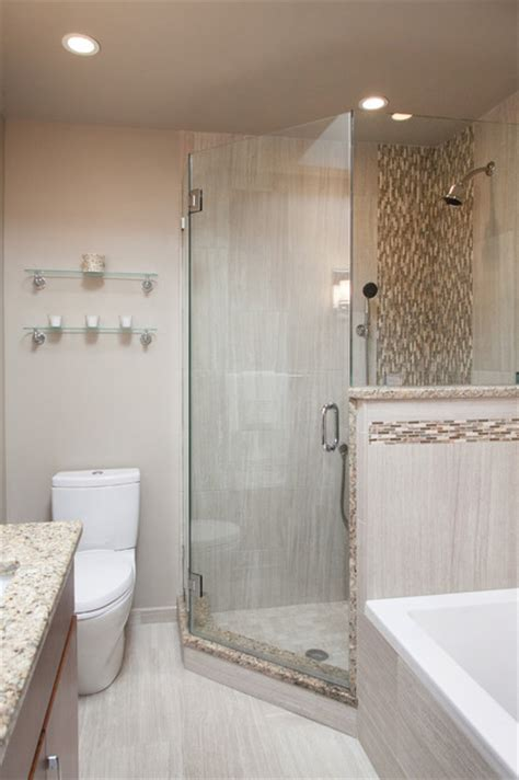 Stand Up Shower Tub Space Saver Bathroom With Stand Up Shower And Drop In Tub