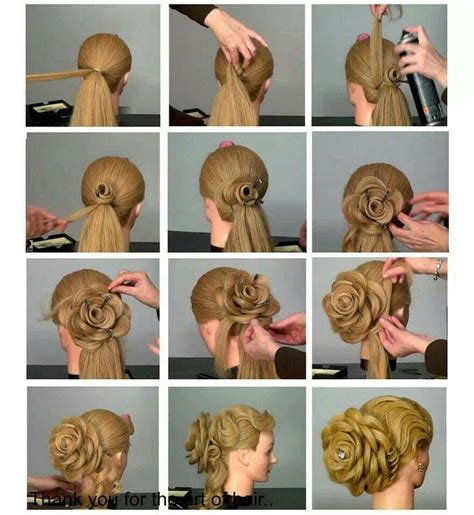 20 clever and interesting tutorials for your hairstyle flower hairstyle tutorial for special events i love cute