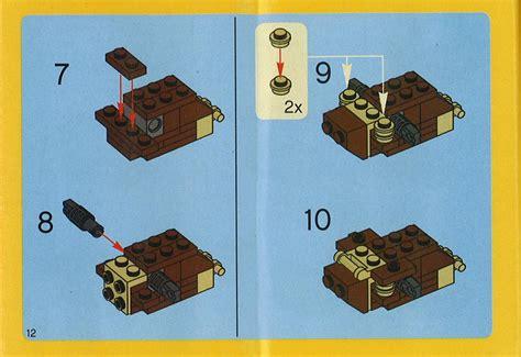 printable lego animal instructions old lego 174 instructions letsbuilditagain com