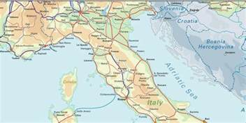 Italy Rail Map by Italy The Little Boot