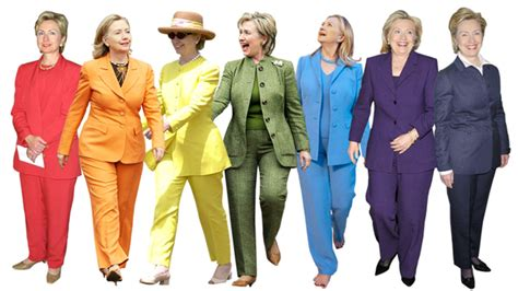 hairstyles for college uniform see hillary clinton s colorful pantsuits instyle com