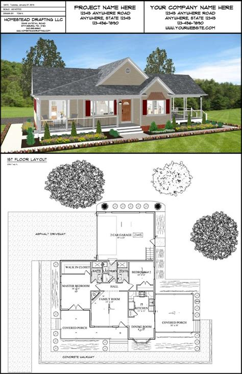 house design and drafting services homestead drafting llc 3d renderings 3d rendered