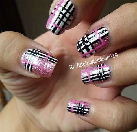 plaid pattern nails the 25 best plaid nail designs ideas on pinterest plaid