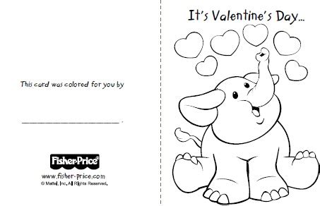 Printable Valentines Cards Free To Color