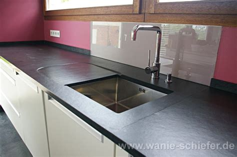 schiefer arbeitsplatte küche wohnzimmer gr 252 n wei 223 grau