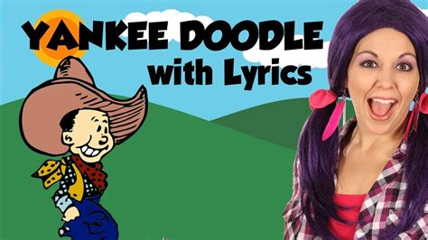 doodle doodle doo lyrics yankee doodle nursery rhymes lyrics tea time with
