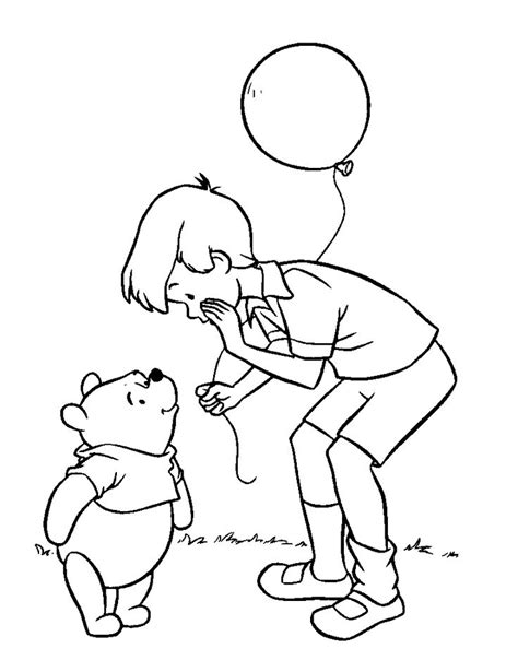 coloring pages of christopher robin 76 best winnie the pooh coloring pages images on pinterest