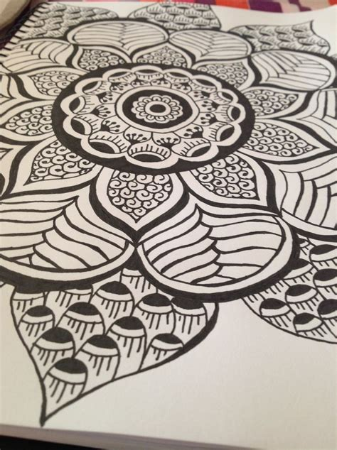 zentangle tattoo zentangle mandala mandalas flower