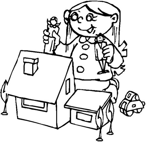 coloring pages of a doll house dollhouse coloring pages