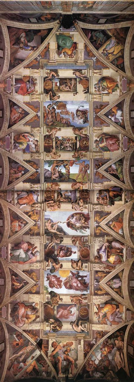 Michelangelo Ceiling Of The Sistine Chapel by Sistine Chapel