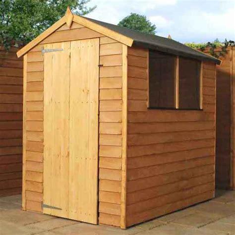 6x4 garden shed single door apex wooden sheds overlap clad