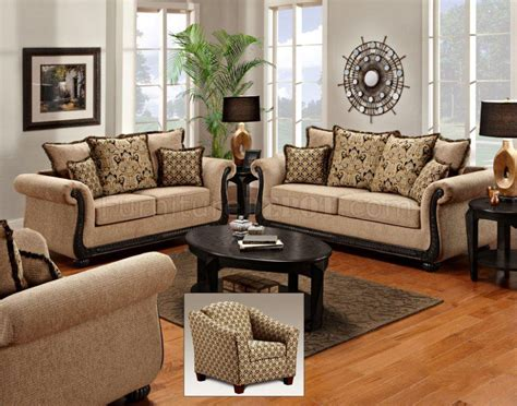 Sofa Sets by Taupe Fabric Classic Sofa Loveseat Set W Options