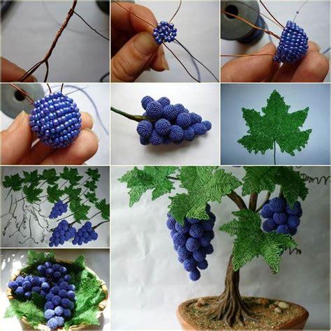 beads decoration home diy beautiful beaded grape vine diy photo beautiful and