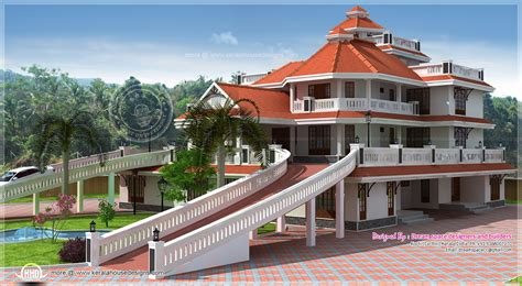 mansion home designs 3 storey super luxury mansion in kerala kerala home