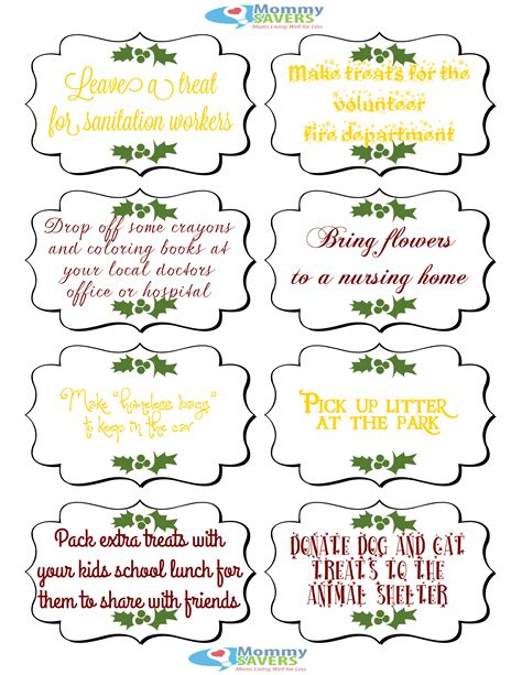 printable kindness elf ideas 9 best images of random acts of kindness printables