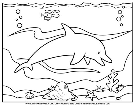 ocean background coloring page printable ocean animals az coloring pages
