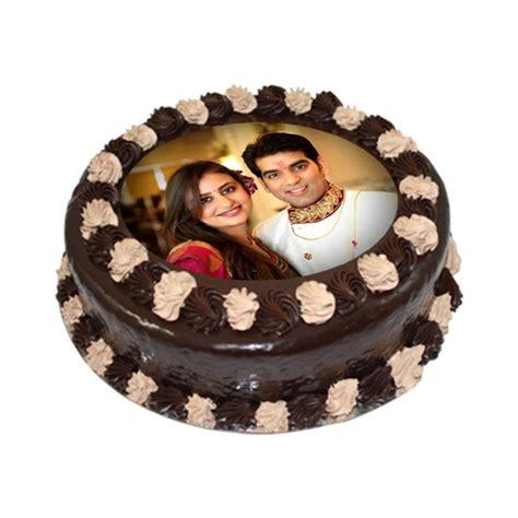 Delicious Chocolate Photo Cake   Personalized Cakes India