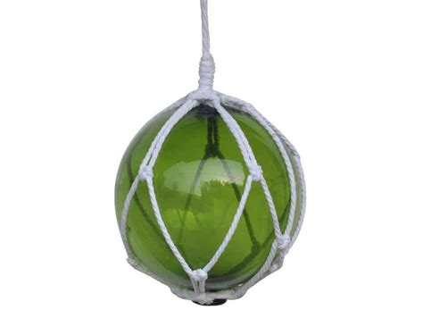 japanese glass buy green japanese glass ball fishing float with white netting