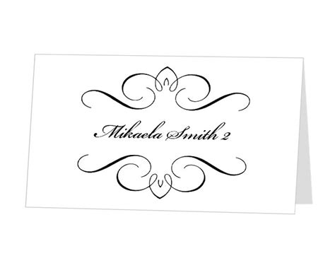 name place card template free 9 best images of place card template word diy wedding