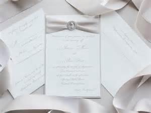 naturally rhinestone brooch wedding invitation