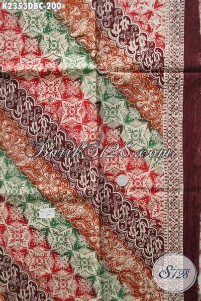 Kain Batik Dolby batik parang proses cap warna kombinasi untuk busana trendy wanita masa kini batik kain bahan