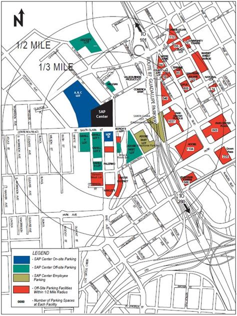 san jose parking map sap center at san jose
