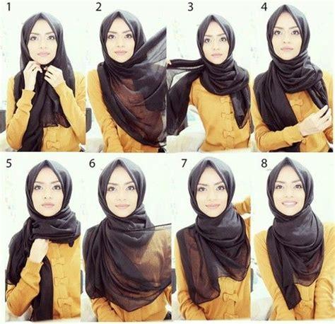 Cara Cara Berhijab Segi Empat Terbaru model jilbab segi empat tutorial pesta by