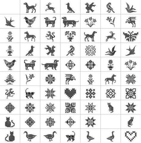 Pattern Ornament Font | cross stitch font ornaments cross stitch pinterest