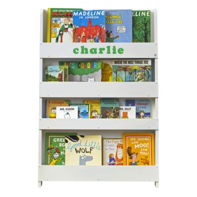childrens white bookcase uk personalised children s bookcase shelves by tidy books