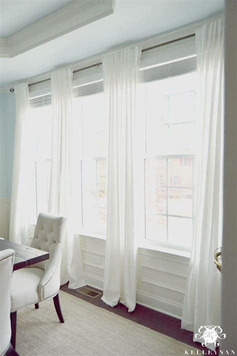 how to dress a window without curtains kelley nan the favorite white budget friendly curtains ikea ritva panels the look of white