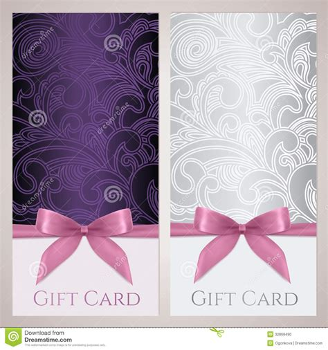 gift certificate gift card coupon template stock photo