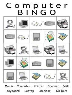 free printable computer use worksheets computer hardware