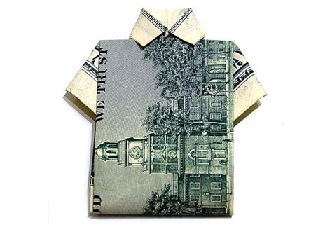 Origami Hawaiian Shirt - 50 spectacular origami designs made from money