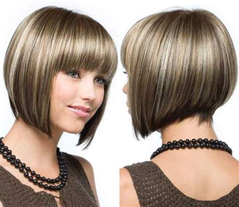 shorter hairstyles with side bangs and an angle 30 best inverted bob with bangs bob hairstyles 2017