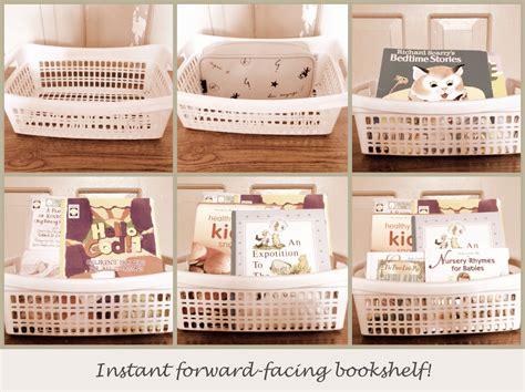 family style instant gratification forward facing bookshelf