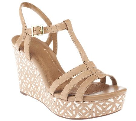 clarks artisan wedge sandals clarks artisan leather multi wedge sandals amelia