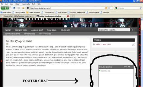 tutorial klinik adalah cara pasang chat facebook di blog