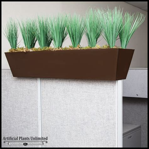 Cubicle Planters by Faux Grass Cubicle Privacy Screen Artificial Plants