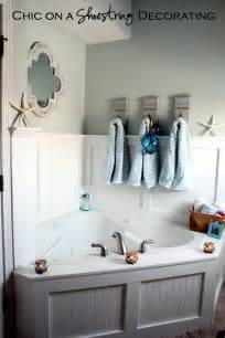 Beachy Bathroom Accessories Chic On A Shoestring Decorating Beachy Bathroom Reveal