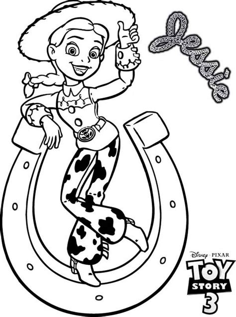 toy story jessie and a horseshoe tipping in toy story 3