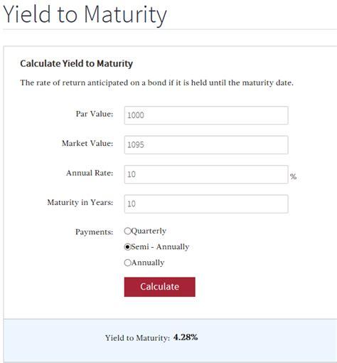 calculator yield calculation how do i calculate yield to maturity ytm